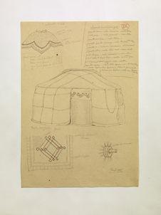 Vêtements hommes mongols [liste]. Collerette Tibet. Tente mongole (Yurt). (XVI)