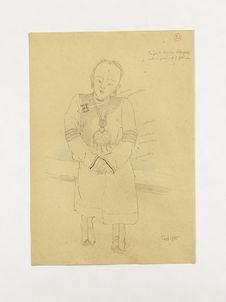 Enfant riche mongole [fille], collier pendentif fétiche. (21)