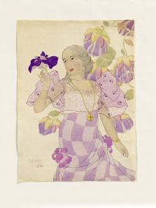 Portrait of a Chamorro Woman. Violet. Portrait de Melle Carmen Blanco