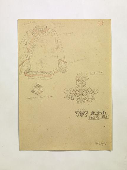 Vêtement Tibet. Motifs Tibet. (23)