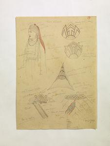 Femme Kalmack. Tiares de Lama. Robe d'homme. (27)