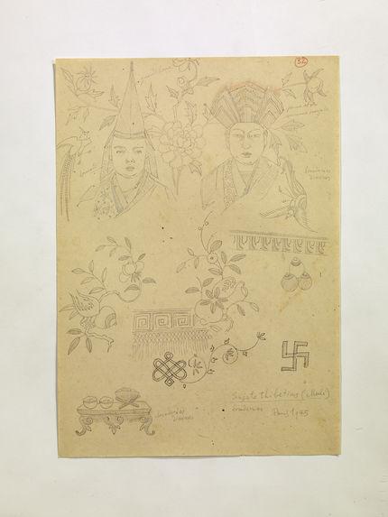 Sujets tibetins (Muli) broderies. (32)