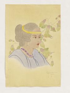 Portrait de Rosa Rogopes. Jeune indigène de Saipan