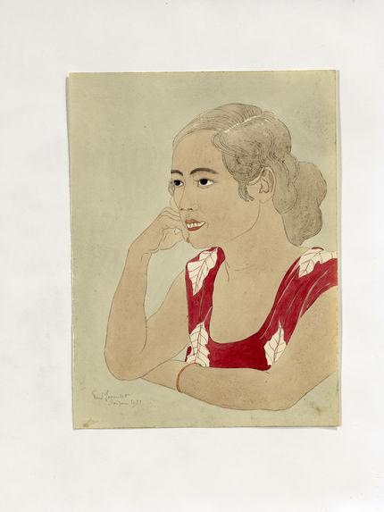 La soeur de Jose Olopai, jeune indigène de Saipan