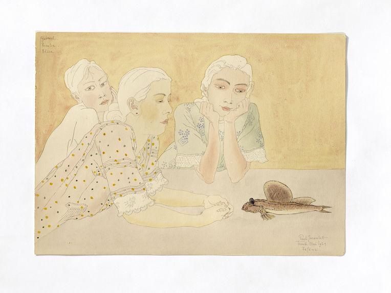 Gabriel, Rosalie et Elisa Nedelec. Enfants de Pierre. Métis français et Truck