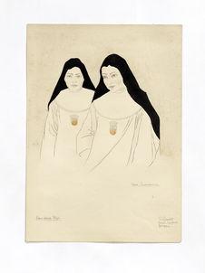 Les soeurs espagnoles. Maria Pilar et Inocencia