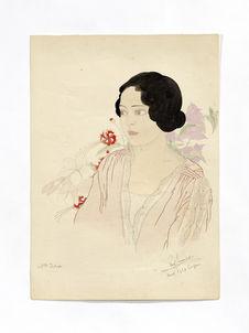 Melle Dolores Emparo, jeune chamorro de Guam, femme de Vicente Ada de Guam