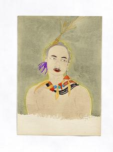 Portrait de Mio le Sourd. Elégant de Rull. Grande tête