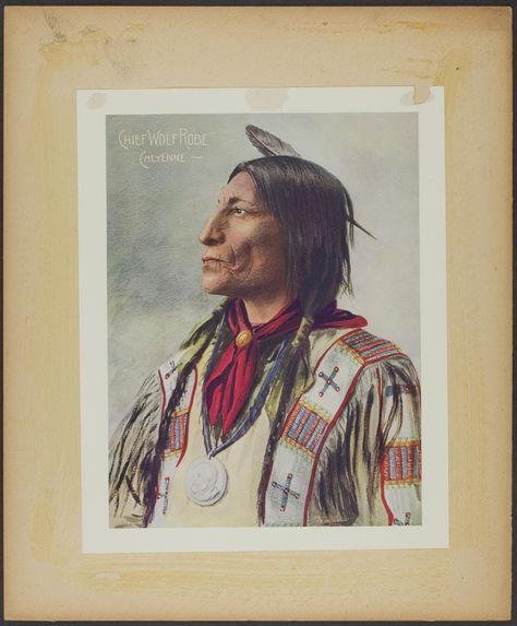 Chief Wolf Robe. Cheyenne