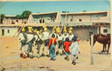 The Koshare in the corn Dance at Santo Domingo Indian Pueblo
