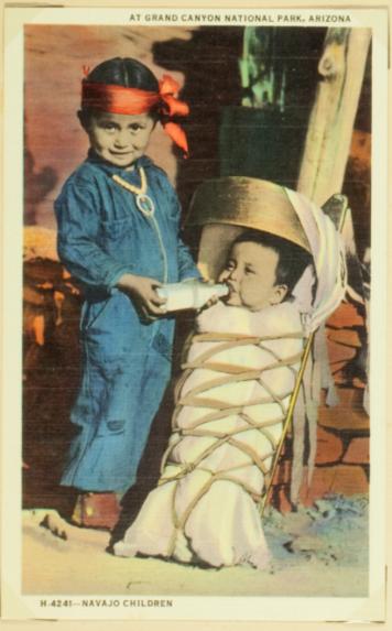 At grand canyon national park, Arizona. Navajo children
