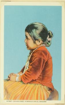 Zuyah-Chee, a navajo child, Arizona