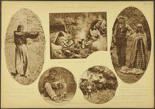 Indiens Havasupaïs. Une cuisine dans une caverne