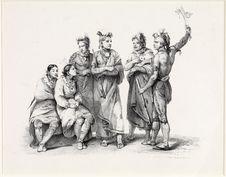 Les Indiens Osages en visite en France