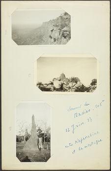 Sommet du Badiar [homme devant une termitière ?]