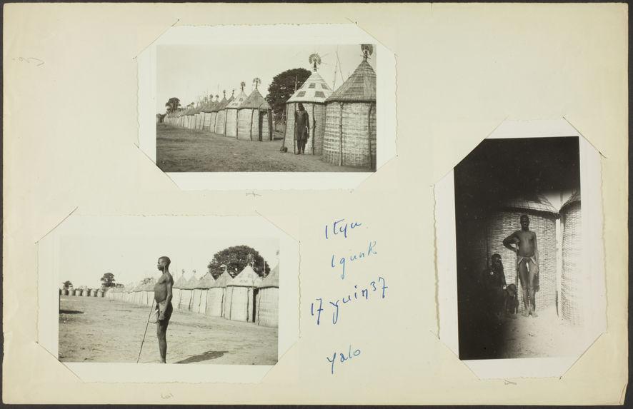Ityu Igunk [portrait d'un homme devant une rangée de cases]