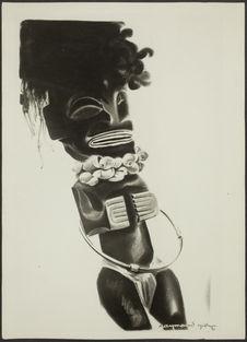 Maquette de l'affiche pour exposition ethnographique des colonies françaises