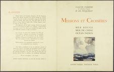 Missions et Croisières. Mer rouge, mer de Chine, océan indien