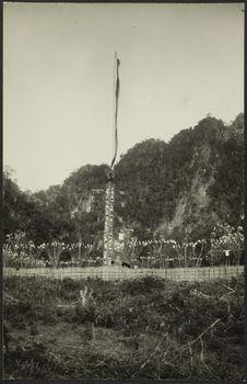 "Le ""Co chao pha"". L'arbre mortuaire principal dressé"
