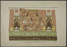 Fresco n°2 descubierto por Leopoldo Batres en Setiembre de 1886