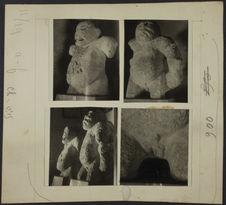 Mexique. Grandes statues de singes de Mérida (Yucatan)