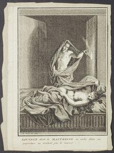 Sauvage dont la maitresse se cache dans sa couverture