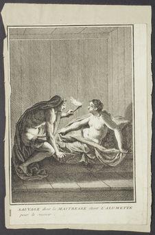 Sauvage dont la maitresse éteint l'allumette pour le recevoir