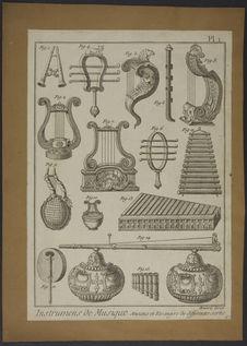 Instruments de musique anciens et étrangers de différentes sortes