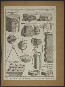 Instruments de musique anciens et modernes, de percussion