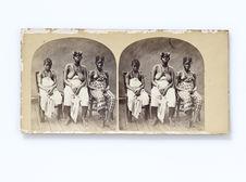 Femmes du roi Quaben au Gabon