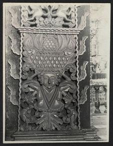 Tunja, Sto Domingo, détail du pilier de l'Arc de Triomphe