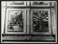 L'apparition du Saint Esprit et l'ascension de la Vierge, chapelle du Rosario