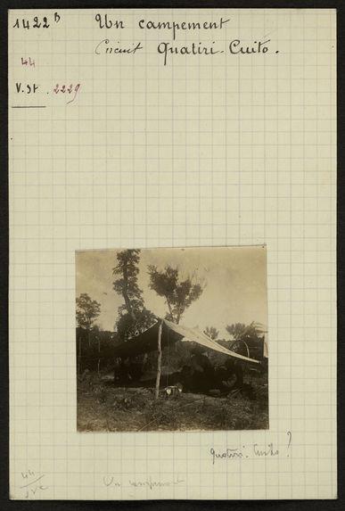 Un campement, circuit Quatiri-Cuito