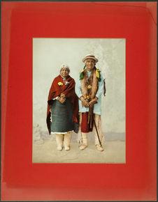Pueblo indians. Jose Jesus and wife