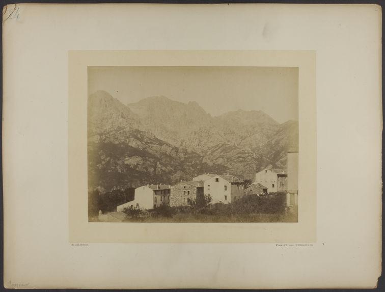 Bocognano [Le Monte d'Oro vu de Bocognano]