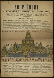 Supplément au Progrès de Saïgon (du 24 août 1892) : Voyage aux pays des...