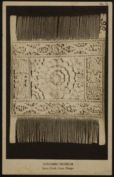 Ivory comb, lotus design