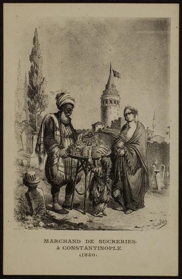 Marchand de sucreries à Constantinople
