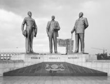 Botswana, The Three Dikgosi Monument (built by North Korea), Botswana, Gaborone...