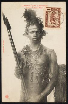 Congo Français et dépendances. Guerrier Pahouin Yenvi