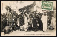 Congo Français. Passage du chef Makoko à Brazzaville
