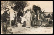 Congo Français. Passage de la Mission de Béhagle et Bonnel de Mézières, à...