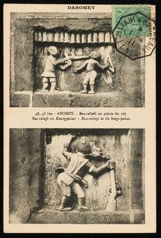 Bas-reliefs au palais du roi