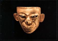 Masque funéraire, or et platine