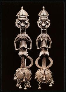 Paire de edan, insignes d'appartenance à la société du culte ogboni