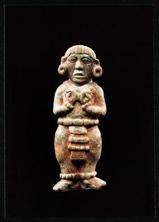 Pendentif en jade. Epoque classique : environ 500 à 800 après J.-C.