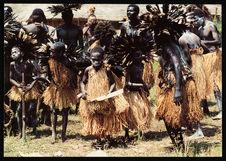Groupe de danseurs ébanigi. Ewo