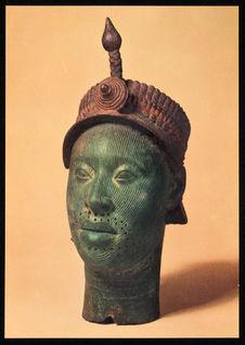 Bronze head from Ife in Yorubaland [tête en bronze d'Ife dans le pays Yoruba]