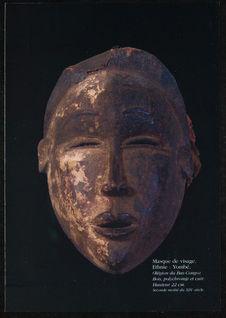 Masque de visage, ethnie Yombé ; Statue d'ancêtre Hemba style Niembo