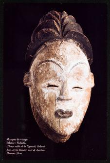 Masque de visage. Ethnie : Ndjabi